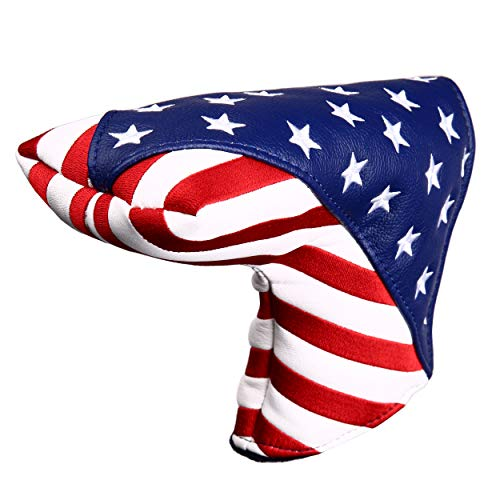 USA Starts and Stripes Golf Putter Head Cover Blade Putter Covers for Scotty Cameron Taylormade Odyssey Golf Builder