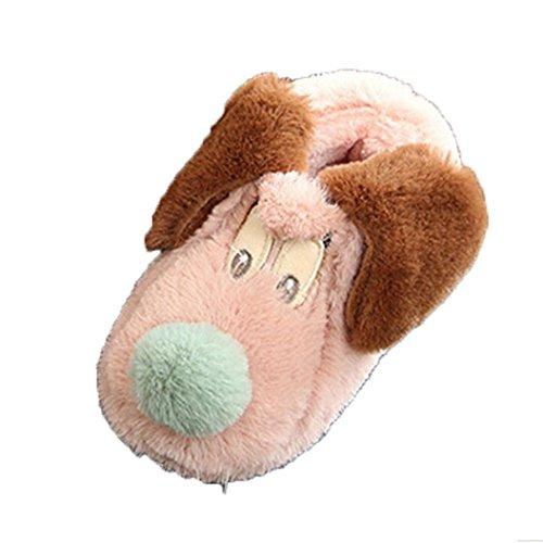 Babyschuhe Jamicy® Winter Kinder Herde Gummi Hausschuhe Jungen Mädchen Baumwolle Schafe Kinder Indoor Warme Schuhe Rosa