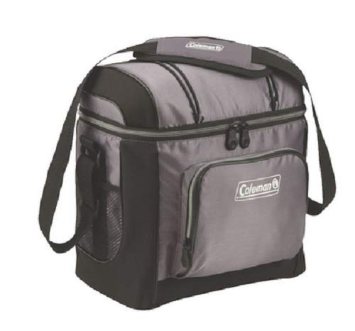 Coleman 3000001312 Cooler Soft 16 Can Gray W/ Liner (Soft Lined Shell Case)