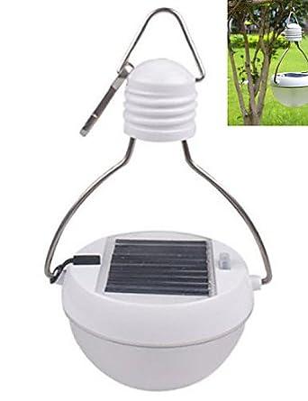 hjlhyl Sensor de movimiento PIR principal Solar de bajo consumo bombilla Camping Farol Luz impermeable blanca