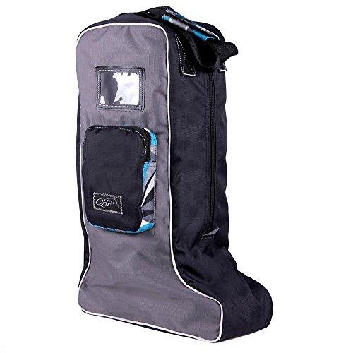 Stiefeltasche, Tasche für Reitstiefel Lederstiefel in modernen Designs Frost grey