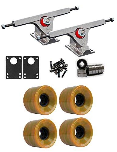 ストレス鼻仮定、想定。推測Caliber Raw Longboard Trucksホイールパッケージ60 mm 78 a Green / Orange Swirl