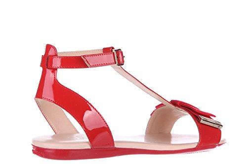 Hogan sandalias mujer en piel nuevo valencia fiocco gros rojo