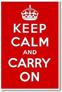Keep Calm and Carry on - NEW Vintage Reprint Poster