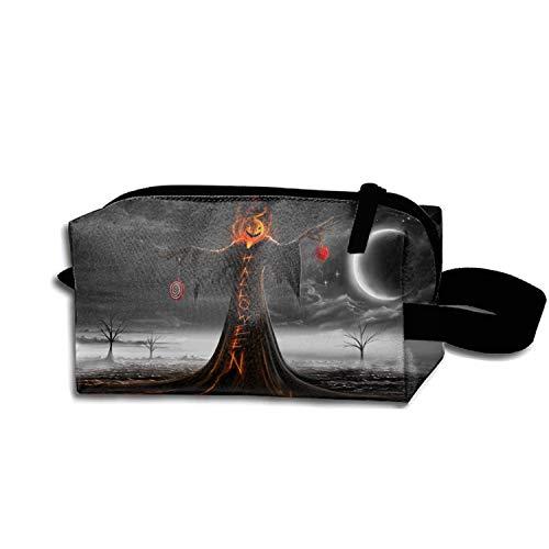 scakoko Multifunction Cosmetic Bag Halloween 31 October Pumpkin Host Pouch Waterproof Travel -
