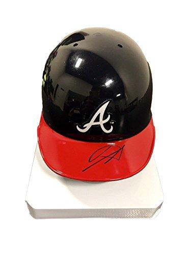 Ronald Acuna Atlanta Braves Signed Mini Batting Helmet S63574 - JSA Certified - Autographed MLB Mini Helmets