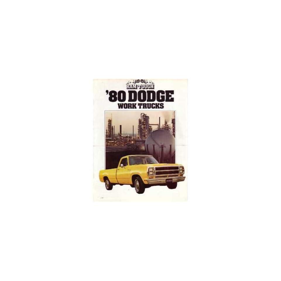 1980 Dodge Work Trucks Sales Brochure Literature Book Advertisement Options