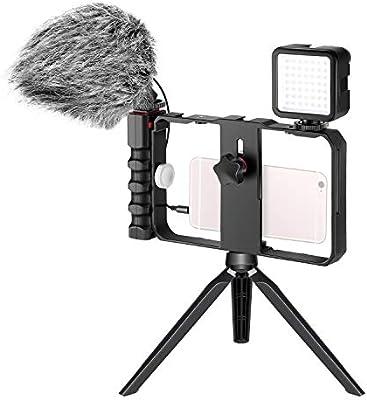 Neewer Kit Equipo de Micrófono y Video para Cámara Smartphone ...