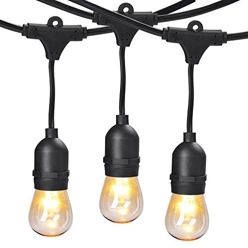 Fansport 49Ft LED String Light Bulb String Waterproof Decorative Light for Patio Landscape (Halloween Party Energy 2000)