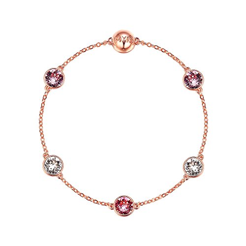 8665efba1 My Jewellery Story MYJS Remix Collection Timeless with Swarovski Pink  Crystals Rose Gold Plated
