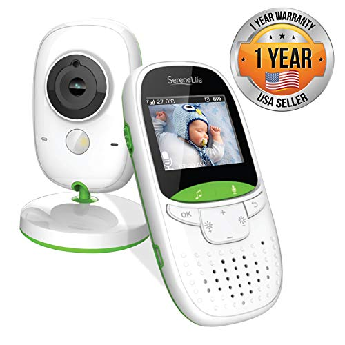 SereneLife Video Baby Monitor Dual System w/ Temperature Thermometer Sleep Camera, Dedicated 2