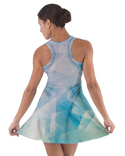 CowCow - Vestido - para mujer Crystal Blue Material #2
