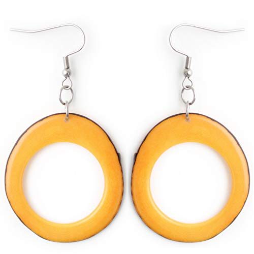 Slices Tagua Earrings Yellow ()