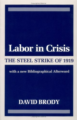 Labor in Crisis: The Steel Strike of 1919 (Critical Periods of History.)