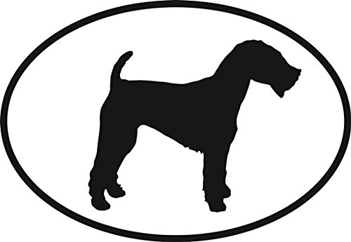 Welsh Terrier Euro Oval Bumper Sticker