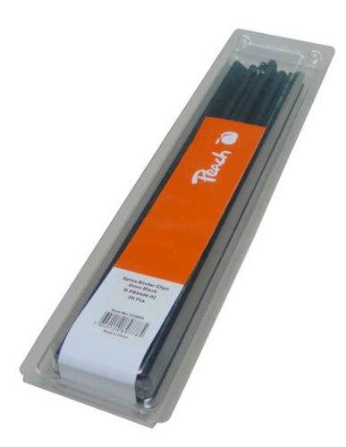 Peach R-PBS406-02 Klemmschienen DIN A4, 6 mm, 20 Blatt, 25 Stück, schwarz