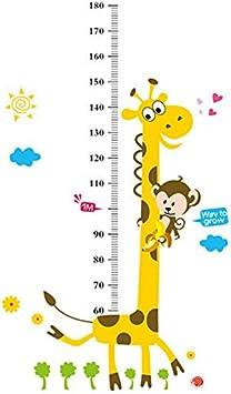 Pirate Animals Kids Height Ruler Growth Measure Chart Giraffe Castle NEW