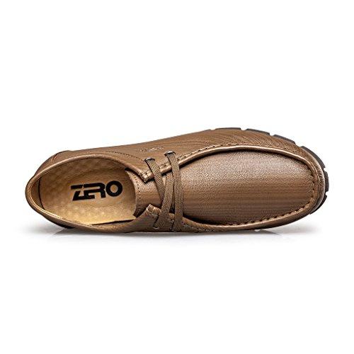 Zro Mens Mode Spets-up Mocc-toe Avslappnade Oxford Drivande Sko Khaki
