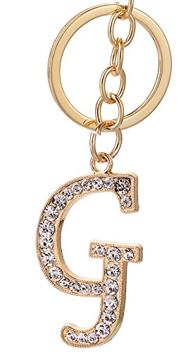 - Keychain for Women AlphaAcc Purse Charms for Handbags Crystal Alphabet Initial Letter Pendant with Key Ring,Letter G