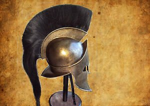 Junglevibes King Spartan 300 Movie Helmet With Liner For Reenactment Larp Role Play by Junglevibes