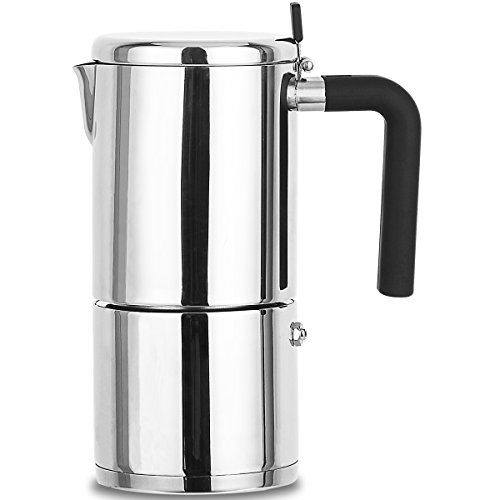 Stovetop Espresso Maker Stainless Steel 6 Cup XIHAO Silver Italian Moka Coffee Pot