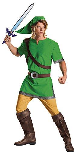 UHC Men's The Legend of Zelda Link Outfit Fancy Dress Halloween Costume, Teen (38-40) -