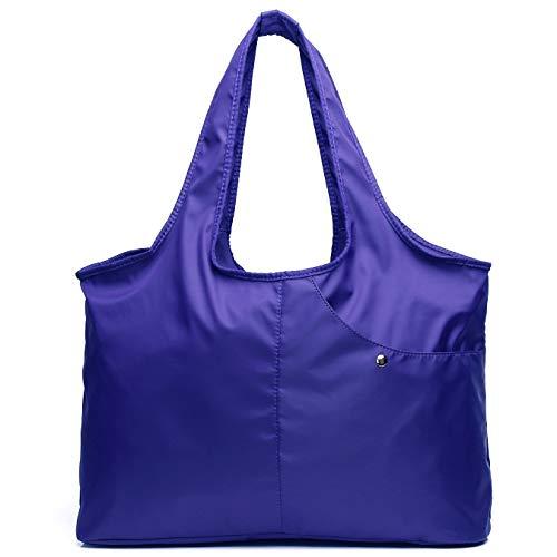 - Volcanic Rock Waterproof Shoulder Bag Lightweight Totes (8045_Azure)