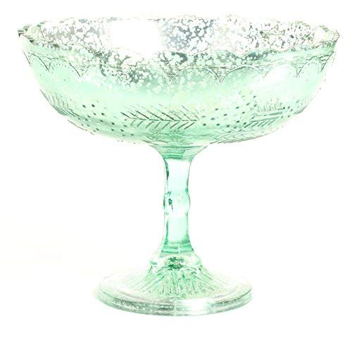 (Koyal Wholesale Compote Bowl Centerpiece Mercury Glass Antique Pedestal Vase, Floral Centerpiece, Wedding, Bridal Shower, Home Décor (8