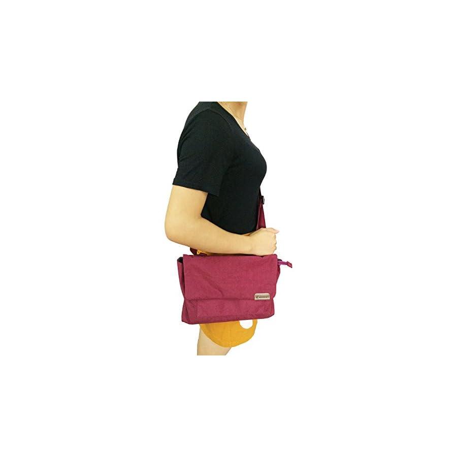 FanCarry Nylon Travel Crossbody Purse Waterproof Outdoors Satchel Bag Lightweight