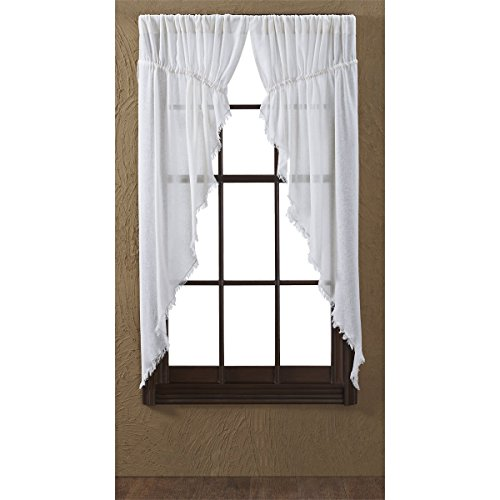 VHC Brands Coastal Farmhouse Window Tobacco Cloth White