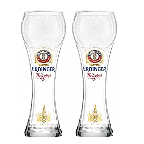 Erdinger Football Cup German Beer Glass .5L Set of Two (1/2 Liter German Beer)
