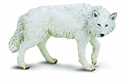 Safari Ltd. White Wolf Figure 220029, Hand-Painted and Phthalate-Free