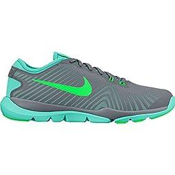 Women\'s Nike Flex Supreme TR 4 Training Shoe Cool Grey/Rage Green/Hyper Turquoise Size 6.5 M US