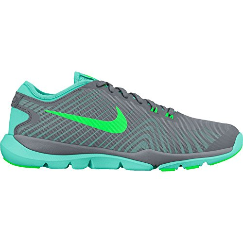 Nike+Womens+Flex+Supreme+TR+4+Cross+Trainer+%288.5+B%28M%29+US%2C+Cool+Grey%2FRage+Green%2FHyper+Turquoise%29
