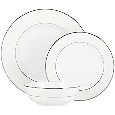 Click for Lenox Opal Innocence Stripe 3-Piece Place Setting, White