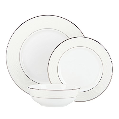 Lenox Opal Innocence Stripe 3-Piece Place Setting, White