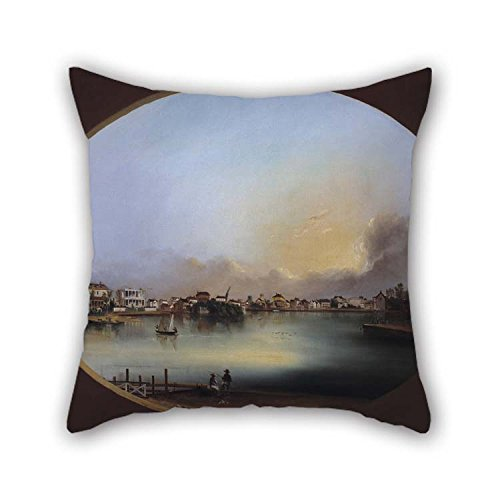 Oil Painting Henry Joseph Jackson - View Of Charleston (View From The West) Pillowcover 20 X 20 Inches / 50 By 50 Cm For Teens Girls Birthday Seat Girls Car Seat Kids With Twin Sides