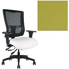 Office Master Affirm Collection AF578 Ergonomic Executive High Back Chair - KR-465 Armrests - Black Mesh Back - Grade 1 Fabric - Celestial Europa Green 1208 PLUS Free Ergonomics eBook