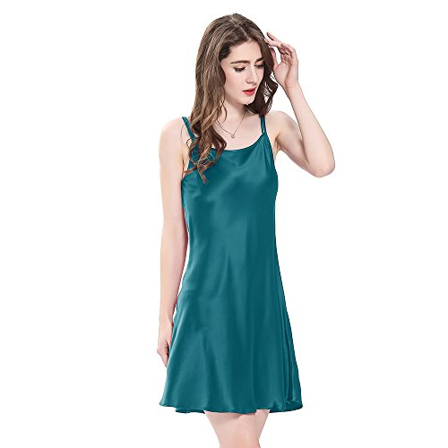 Momme Da Corta Reale Donna Seta Notte Lilysilk Blu Di Pura 24 Camicia qFUwFC4