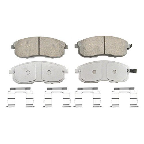 Wagner ThermoQuiet QC430 Ceramic Disc Pad Set With Installation Hardware, - Infiniti Front Brake G20