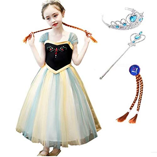 Tsyllyp Girls Layered Princess Snow Queen Costume Anna