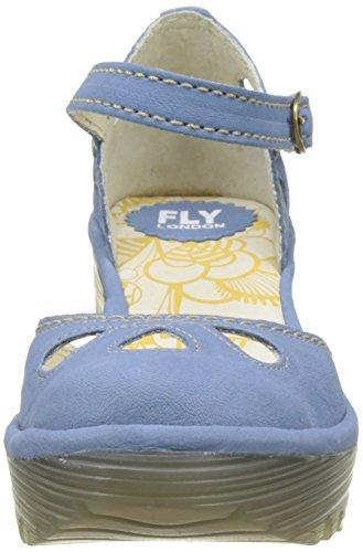 Punta Azul De Mujer smurf Tacón Yuna London 125 Para Cerrada Fly Con Zapatos tvYxqz4nwS