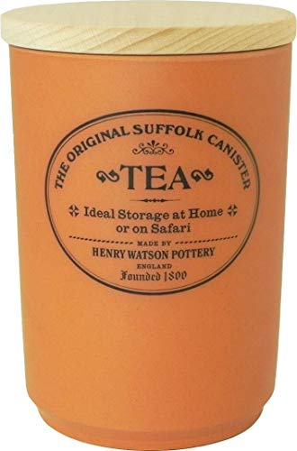 (Large Airtight Tea Canister, Made in England, The Original Suffolk Collection by Henry Watson.)