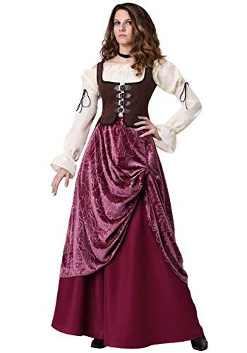 Plus Size Women's Tavern Wench Costume 2X Purple]()