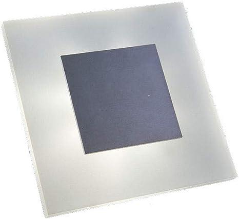 Naka24 - Juego de 10 luces LED de pared y escalera para escaleras (1,8 W, 230 V, cálida 05/WS/W/AL/230 V, aluminio): Amazon.es: Iluminación