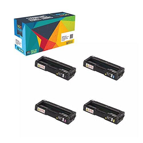 Sp Compatible Cartridges (Do it Wiser Compatible Set Toner Cartridges for Ricoh Aficio SP C240SF C220S C220A C220DN C220N C221N C221SF C222DN C222SF - 406046 406047 406048 406044 - Yield 2,000 pages)