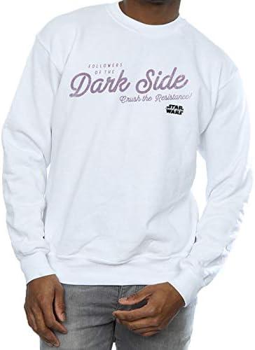 Star Wars Herren The Rise of Skywalker Dark Side Sweatshirt Weiß XXXX-Large