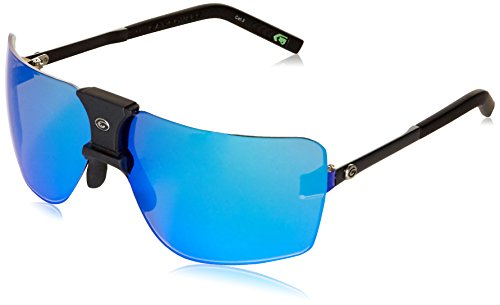 Gargoyles Performance Eyewear 85's Polarized Safety Glasses, Matte Black Frame/Smoke with Blue Mirror - Gargoyles Sunglasses