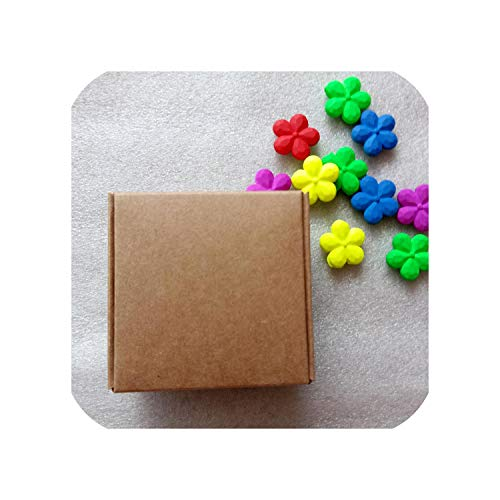 (100Pcs New DIY Kraft Paper/Black/White Gift Box for Wedding Favors Birthday Party Candy Cookies Christmas Party Gift Ideas)