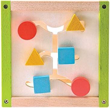 Everearth - EE32695 - Jouet de Premier Age - Mon Premier Cube d'activité en Bois FSC